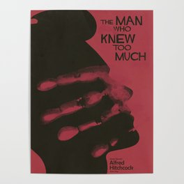 The Man who Knew Too Much, Alfred Hitchcock, minimal movie poster, alternative film playbill, cinema Poster
