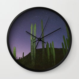The Desert At Night Wall Clock
