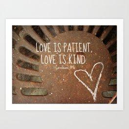 Rusty Love Art Print