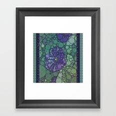 Percolated Purple Potato Flower Framed Art Print
