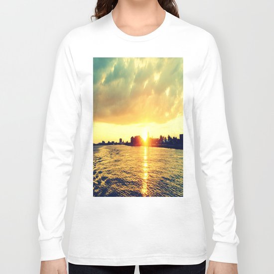 Sunset watEr :Houses Off the River Long Sleeve T-shirt