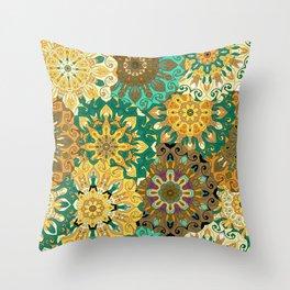 Boho Mandela Pattern 3 Throw Pillow
