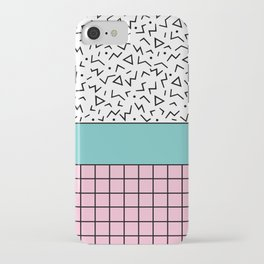 Memphis Pattern 33 / 80s - 90s Retro iPhone Case