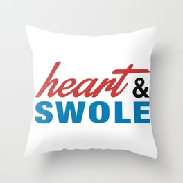Heart & Swole Throw Pillow