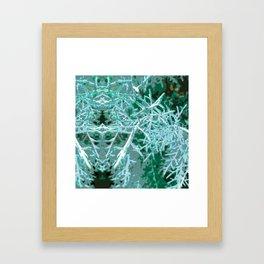 Textured Rorschach Framed Art Print