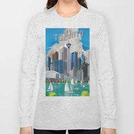 Toronto Skyline wide Long Sleeve T-shirt