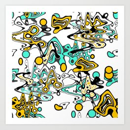 Multicolored abstract pattern Art Print