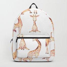 Tan Giraffes Backpack