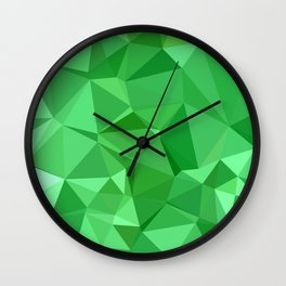 Inchworm Green Abstract Low Polygon Background Wall Clock