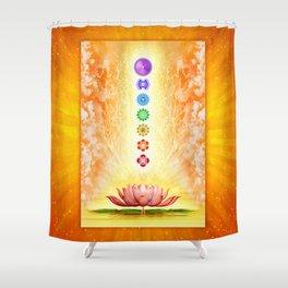 Sacred Lotus - The Seven Chakras .I Shower Curtain