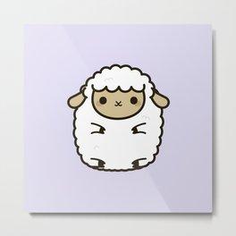 Cute Lamb Metal Print