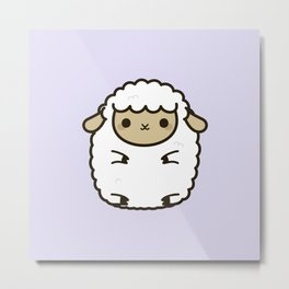 Cute Lamb Metal Print