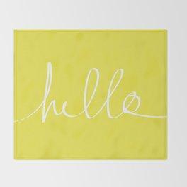 Hello x Sunshine Throw Blanket