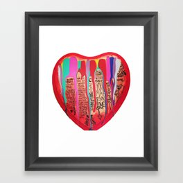 LOVE COME DOWN Framed Art Print