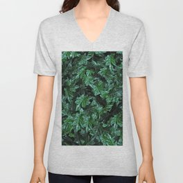 Dew foliage pattern - version two Unisex V-Neck