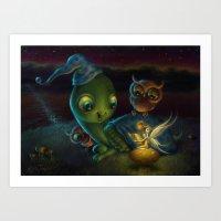 fairy tale Art Prints featuring Fairy Tale by Alicia Templin