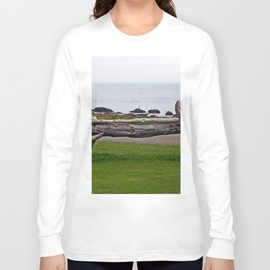 Driftwood Fence and the Sea Long Sleeve T-shirt