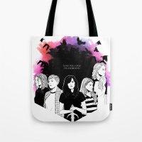 carmilla Tote Bags featuring Carmilla by Kimberley Fahey