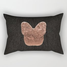 Rose golden embossed Frenchy Rectangular Pillow