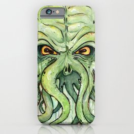 Cthulhu HP Lovecraft Green Monster Tentacles iPhone Case