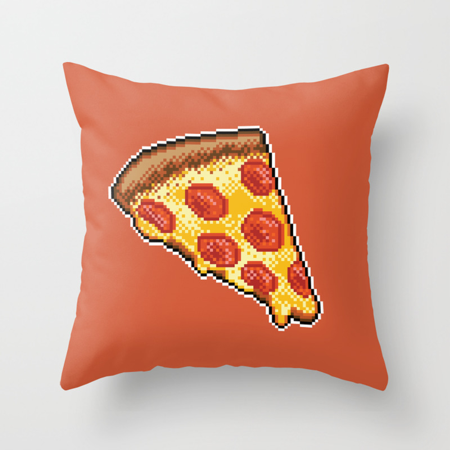 Pixel Pizza Throw Pillow By Skywaker Society6
