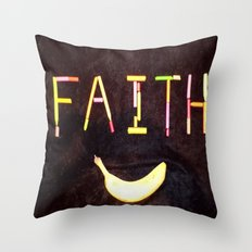 FAITH-B-SMILE Throw Pillow
