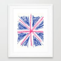 uk Framed Art Prints featuring UK by R.Bongiovani