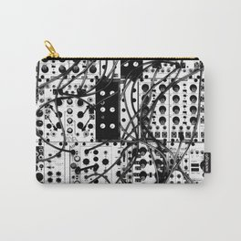 analog synthesizer system - modular black and white Carry-All Pouch