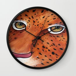 Closeup of Jaguar Wall Clock
