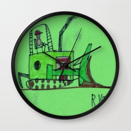 Moving Earth Wall Clock