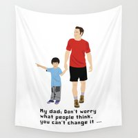 dad Wall Tapestries featuring My dad by Design4u Studio