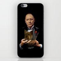 the godfather iPhone & iPod Skins featuring Raymond Reddington - Godfather by Veruca Crews