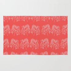 branches red graphic nordic minimal retro Rug