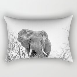 African Elephant on a Hill Rectangular Pillow