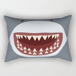 Shark Teeth Funny Kids Cartoon Smile Rectangular Pillow