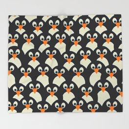 Penguin Pile-Up Throw Blanket