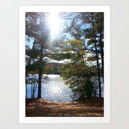 Quiet Lake in Autumn Art Print