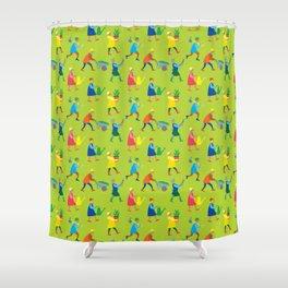 Gardeners pattern Shower Curtain