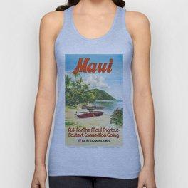 Vintage poster - Maui Unisex Tank Top
