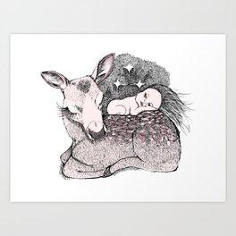 Bambi Night Art Print