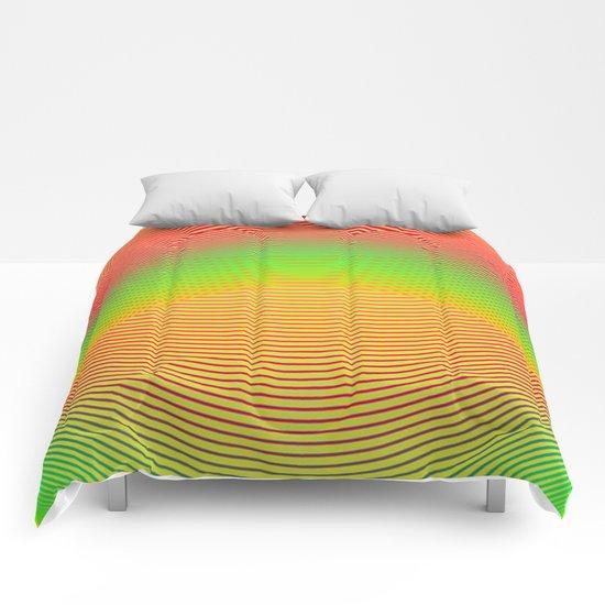 Orange Helix Comforters