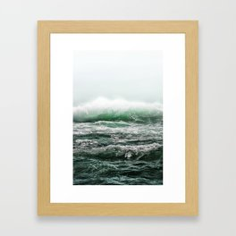 EMERALD SEA Framed Art Print