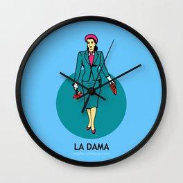 La Dama Mexican Loteria Wall Clock