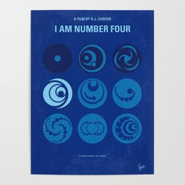 No937 My I AM NUMBER FOUR minimal movie poster Poster