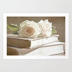 roses and books Art Print