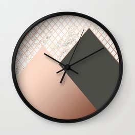 Copper & Marble 06 Wall Clock