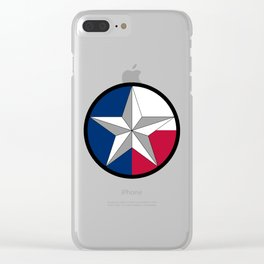 Texas Lone Star Clear iPhone Case