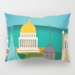 Charleston, West Virginia - Skyline Illustration by Loose Petals Pillow Sham