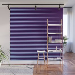 Blue Horizontal Parallel Lines  Wall Mural