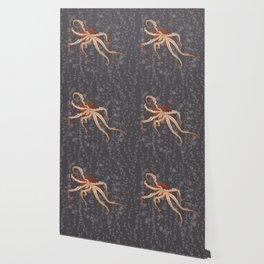 Rad Orange Octopus Wallpaper